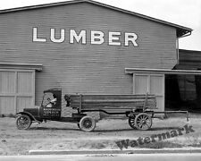 Photograph Vintage Ford Lumber Delivery Truck W.A. Pierce Company 1925  8x10