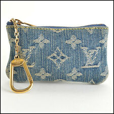 RDC7658 Authentic Louis Vuitton Monogram Denim Cles Neo Coin Pouch