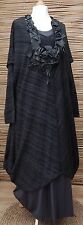 LAGENLOOK*KEKOO*OVERSIZE COTTON MIX QUIRKY DRESS/LONG TUNIC*ANTHRACITE* XL-XXL