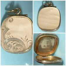 Edwardian 9ct Gold Back & Front Locket Pendant 9 carat yellow gold