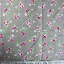 0.5 metre Rose - Brown 100% Cotton Fabric 147cm wide