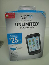 New NET10 Wireless LG 306G Cell Phone Unlimited Talk Text Data