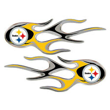 Pittsburgh Steelers Auto Flame Decals 2 Pk - NFL Car Sticker Graphic Emblem CDG