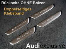 """4x original """"Audi Exclusive"""" emblemas letras cheers plaquita quattro GmbH-metal"""