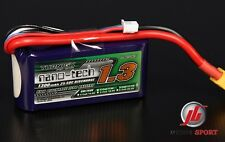 Turnigy Nano-Tech 1300mAh 3S 11.1V 25-50C Lipo Battery Pack RC Plane Heli Car