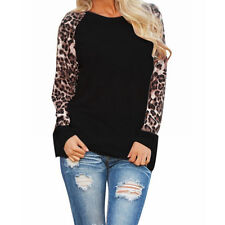 Fashion Chiffon Leopard Blouse Long Sleeve Fashion Ladies T-Shirt Oversize Tops