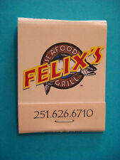 Matches Matchbook    FELIX'S Seafood Grill ~ Battleship Parkway, Mobile, ALABAMA