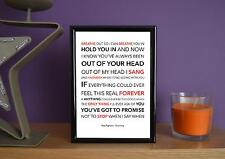 Framed - Foo Fighters - Everlong - Poster Art Print - 5x7 Inches