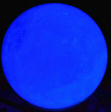 Hot 80mm 730g Glow White Jade Stone Glow In The Dark Stone Ball BLUE + Stand A