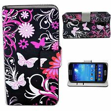Stylish Leather Card Holder Stand Cover Case For Samsung Galaxy S4 Mini i9190
