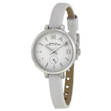 Marc by Marc Jacobs Sally White Dial White Leather Ladies Watch MBM1350