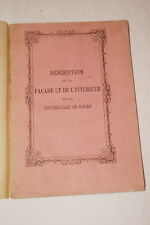 ITALIE DESCRIPTION FACADE INTERIEUR DE LA  CATHEDRALE DE MILAN 1862