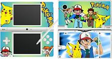 NDSi nintendo DSi - POKEMON - 4 Piece - Decal / Sticker Skin vinyl