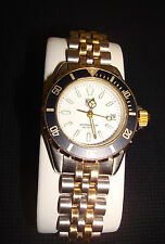TAG Heuer Professional Divers Watch White Dial Ladies 200m Two Tone EUC