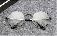 Fashion Men Women Vintage Retro Round Frame Clear Lens Eyeglasses Unisex Glasses