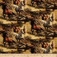 Springs Creative  Independence Pass HORSES 100% Cotton Patchwork, Quilting FQ