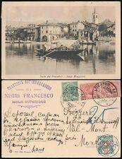 ITALIA per le spese di spedizione svizzero dovuto 1922 RISTORANTE annuncio Negri Francesco. LAGO Maggiore