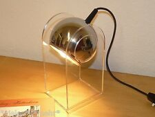 Desk Lamp by Gino Sarfatti for Arteluce, Chrome Ball, acrylic Holder