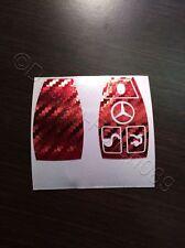 Carbono Cromo Rojo Lámina Decoración Llave Mercedes C E AMG Brabus W204 CLK W209