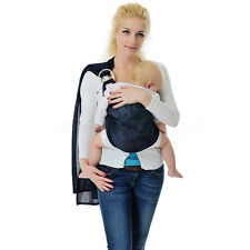 Baby Ring Sling Carrier Pouch Wrap Newborn To Toddler 5 Position Blue New