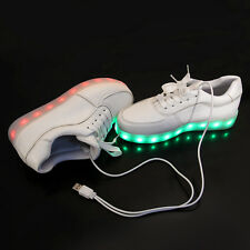 Fashion LED Light Lace Up Unisex Sportswear Sneaker Luminous Shoes Casual 38