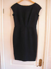 Classic Designer Navy Shift Dress by Ultra Ozbek - Rifat Ozbek - Size UK 10