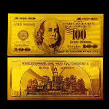 24K Gold US Banknote $100 Hundred Dollar 99.9999% With Currency Sleeve Included