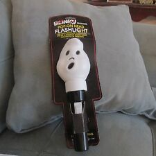 Vintage BLINKY PRODUCTS Halloween Ghost Blow Mold  Flashlight
