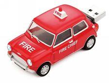 1:48 Classic Mini Cooper USB Flash Drive 8GB – Fire Chief (FD-MC-FIR-G)
