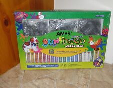 AMOS Glass Deco Window Decoration Art - class-pack of 34 Keychains & Paints