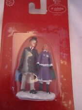 St Nicholas Square Village Accessories Man & Woman Couple Shopping  NEW