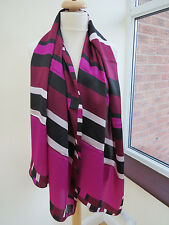 NEW!!Ted Baker London Stenciled ObLong Silk Scarf Shawl - PRETTY! slight second
