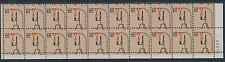 "#1610 VAR ""$1 LAMP"" PLATE NO. STRIP OF 20 MAJOR COLOR SHIFT ERROR BT1320"
