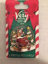 2015 Disney MVMCP Mickey's Very Merry Christmas Party Pin LR Mickey Minnie Pluto