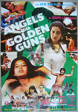 """Chinese Kung Fu Movie Poster Karate ANGELS WITH GOLDEN GUNS 22x31"""" Film 70s"""