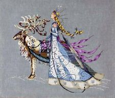 """Mirabilia Counted Cross Stitch Chart Pattern 18"""" x 15 ~ THE SNOW QUEEN #143"""