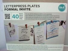 We R Memory Keepers Letterpress Plates-Formal Invite brand new sealed package