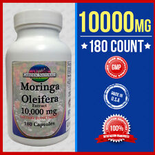 Moringa Oleifera Extract Max 10000 mg 180Caps  Herb  Anti - Aging 3 Month Supply