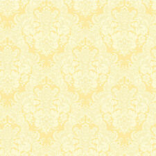 "12""/31cm Wallpaper SAMPLE Fresh and Lovely Damask on Yellow SM8497"