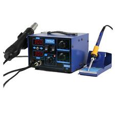 862D+ 2in1 SMD 110V Desolder Electric ESD Soldering Iron Hot Air Rework Station