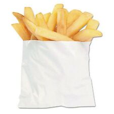 PACKAGING DYNAMICS 450003 PB3 WHITE GREASE RESISTANT FRENCH FRY BAG 4.5 X 3.5