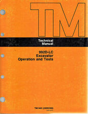 "JOHN DEERE 992D-LC  EXCAVATOR TECHNICAL  MANUAL OPERATION and TEST TM1462 ""NEW"""