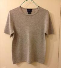 Charter Club 2-Ply Cashmere Short-Sleeve Crewneck Sweater - Light Gray, Size S