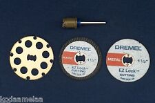 NEW AUTHENTIC DREMEL EZ LOCK EZ402, EZ544, EZ456, EZ476  CUTTING DISC 4 SET