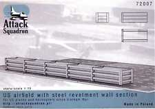 Attack Squadron Models 1/72 U.S. AIRFIELD WITH STEEL REVETMENT WALL SECTION