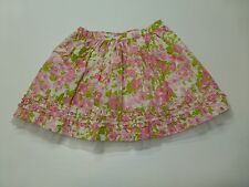 Maggie & Zoe Girls Size 5 Pink Floral Woven Skirt Good Condition