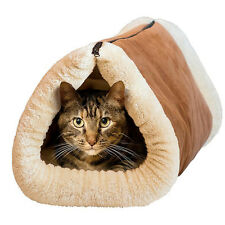 2 in 1 Soft Plush Cat Dog Bed Pet Kitten Puppy Igloo Cave Kennel Mat Pad New