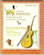 Vintage Two Golden Books in One ~ LITTLE PEEWEE Or, Now Open the Box & SYLVESTER
