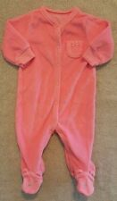 ADORABLE! CARTER'S 3 MONTH PINK BEAR TERRY CLOTH FOOTED SLEEP N PLAY OUTFIT