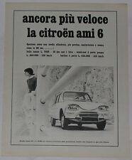 Advert Pubblicità 1968 CITROEN AMI 6